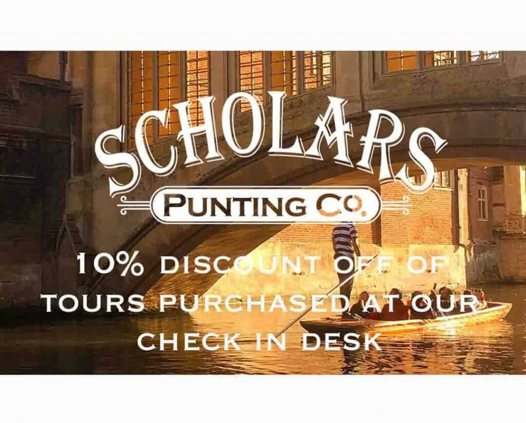 new discount voucher for Cambridge punting